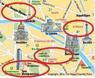 map centre 4 areas restaurants april14